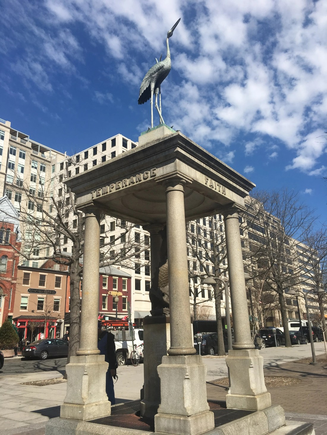 The Temperance Fountain, located in Washington, D.C.'s Indiana Plaza, has been called the city's ugliest monument.