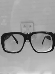 Harry Caray's glasses at the Baseball Hall of Fame