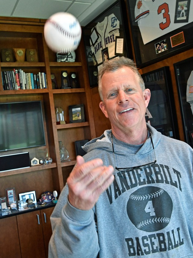 Vanderbilt baseball coach Tim Corbin will become the program's all-time winningest coach soon. What does the great coach surround himself with in his office? Answer: A lot of interesting memorabilia.  Monday Feb. 26, 2018, in Nashville, Tenn