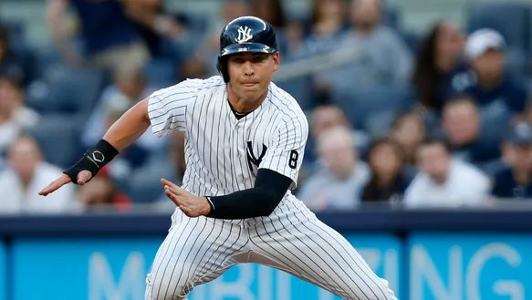 New York Yankees Jacoby Ellsbury prepares to steal