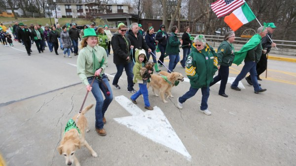 Irishman' Walk In Plymouth Celebrates St. Patricks Day