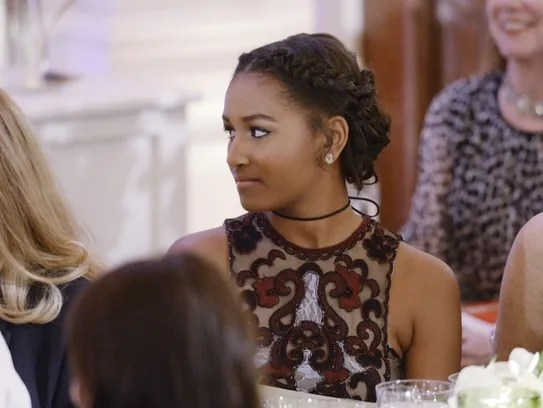 Obama Girls Malia And Sasha Glowed At The State Dinner For