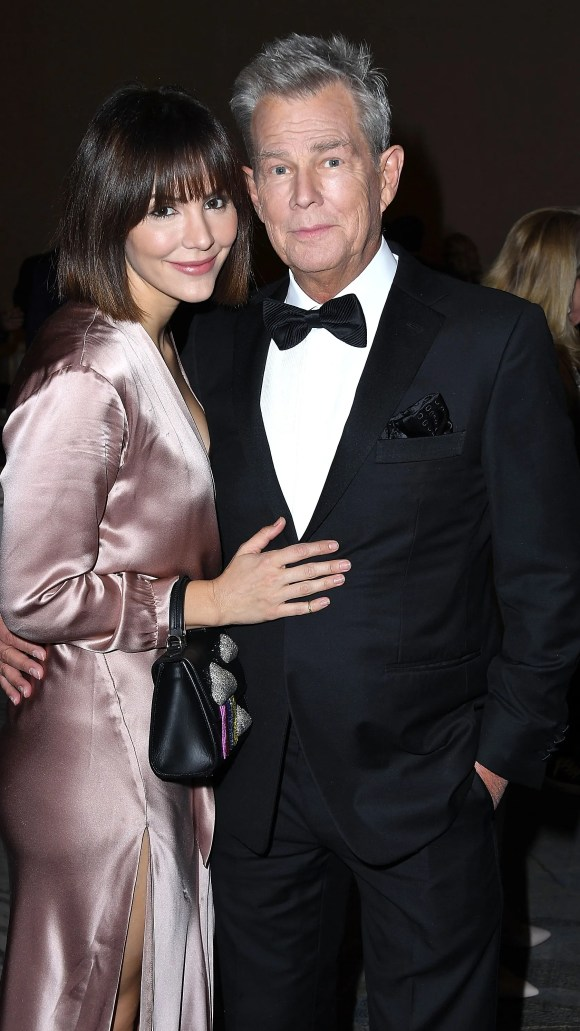 Katharine McPhee and David Foster attend the 2018 Carousel