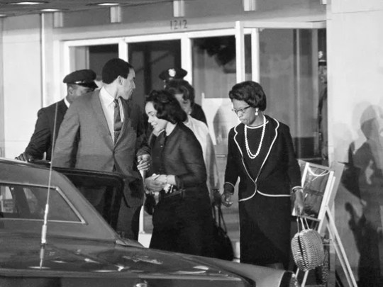 Coretta Scott KIng , widow of the slain civil rights