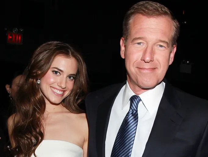 Allison Williams poses with her father, Brian Williams,