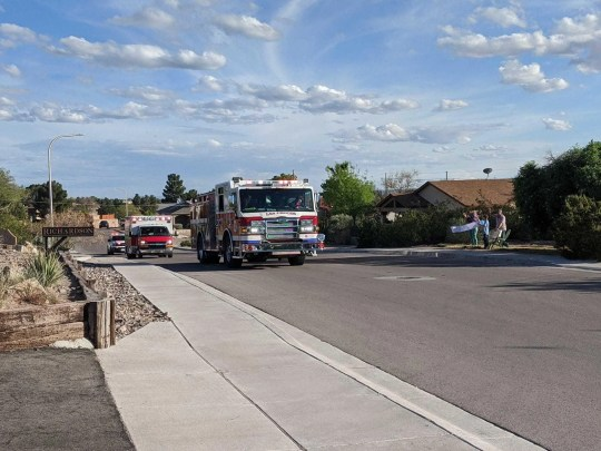 The Las Cruces Fire Department in New Mexico is offering birthday shout outs to children while the stay-at-home order is in effect by driving by their homes in a fire truck to celebrate their special day.