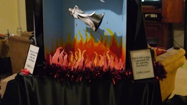 Satanic Temple Holiday Display