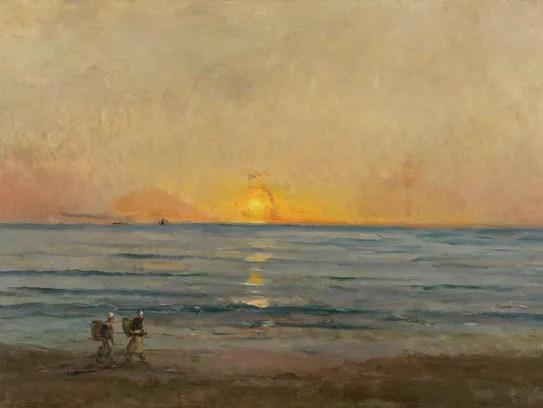 Charles François Daubigny, Sunset near Villerville,