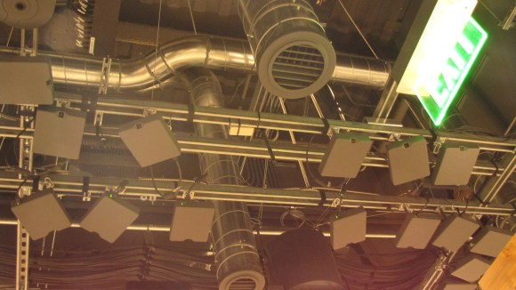 Cameras in the ceiling at the Amazon Go convenience