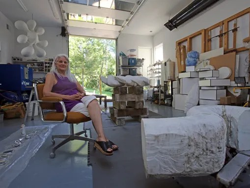 Doris Laughton in her studio in New City. (Photo: Carucha L. Meuse/The Journal News)