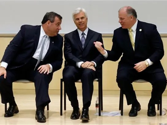 Stephen M. Sweeney, Chris Christie, George E. Norcross III