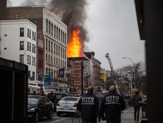 Blast fire erupt in NYCs East Village 19 hurt