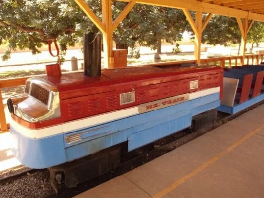 Mr. Train was a popular attraction at the Lazy R&G