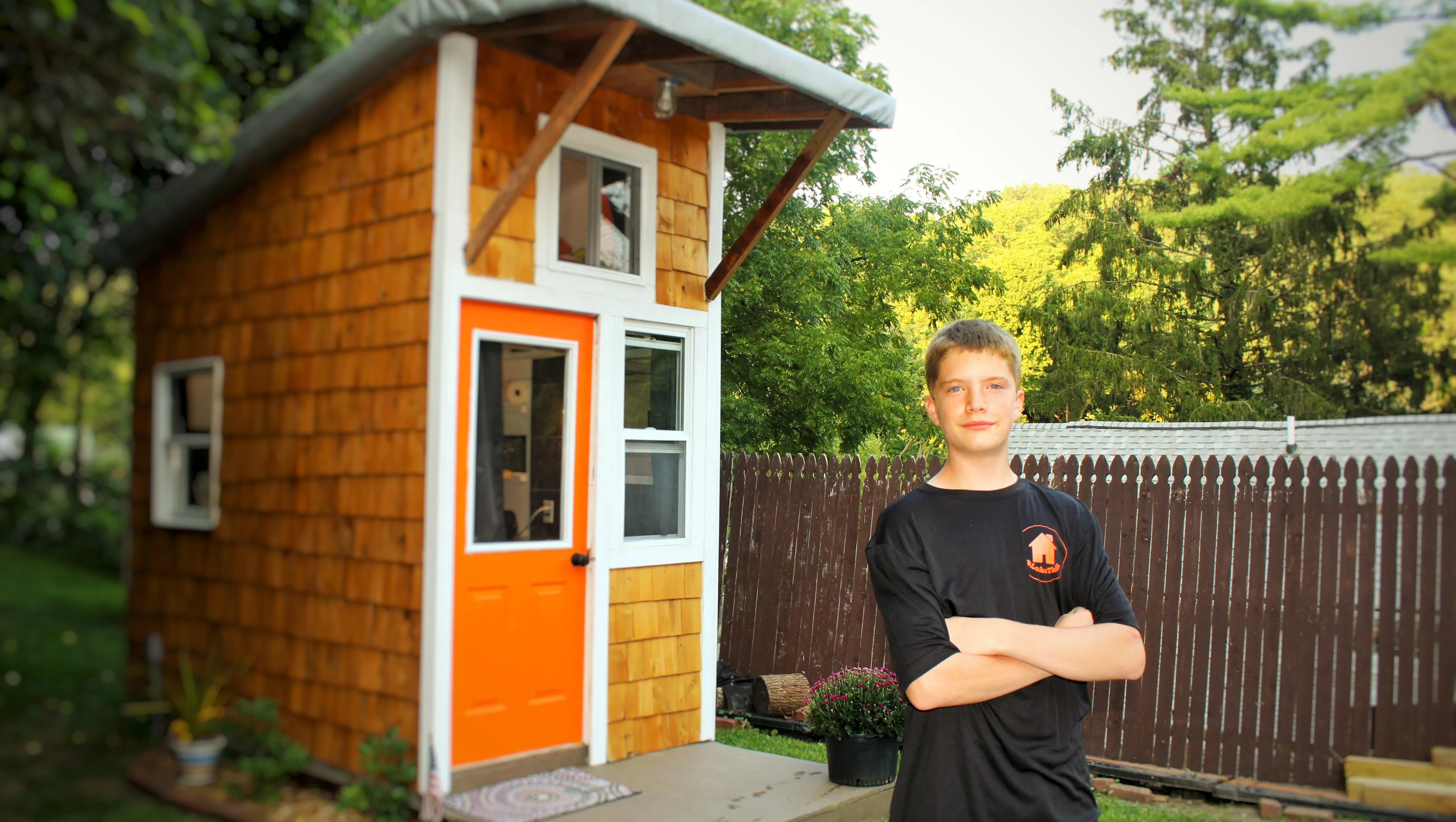 This 13 Year Old Built His Own Tiny House For 1 500 And