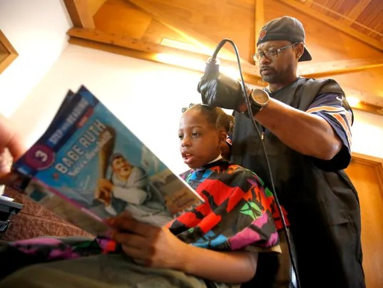 Tales For Trims, Haircuts for kids who read