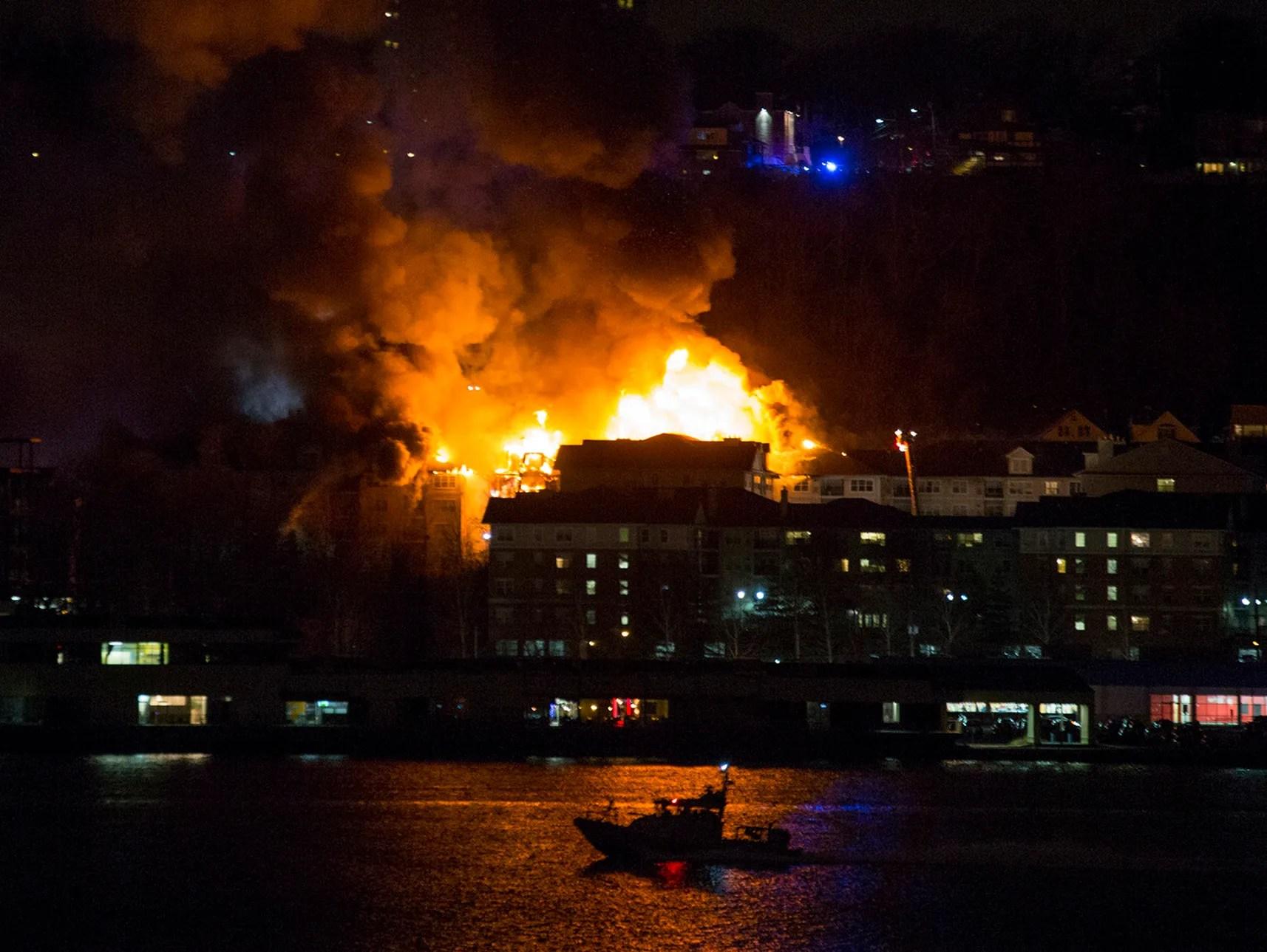 Huge Blaze Engulfs N J Apartment Complex