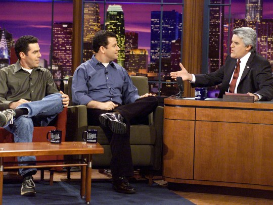 Adam Carolla, left, and Jimmy Kimmel appeared on