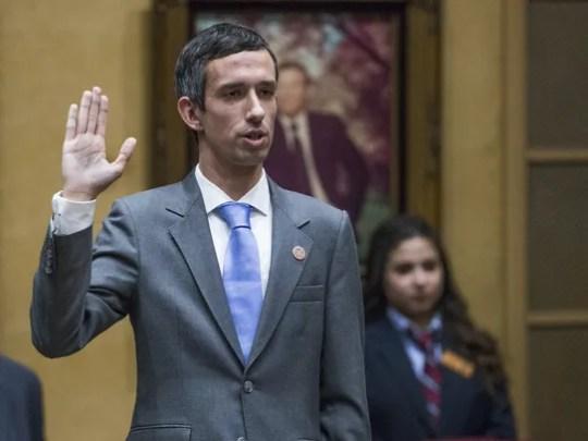 Sean Bowie is sworn in as Arizona state senator for
