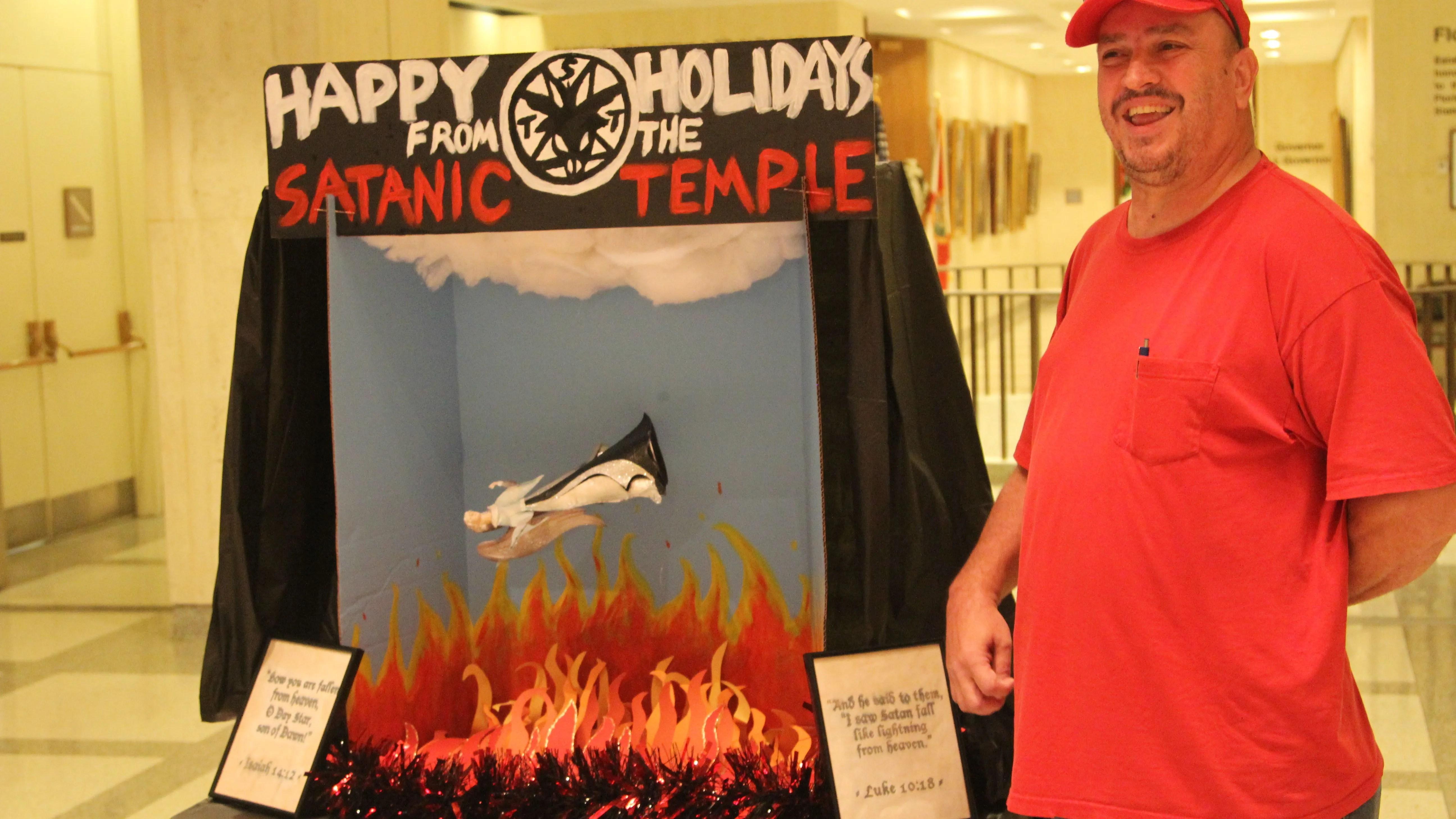 Satanic Temple Display Florida Capitol