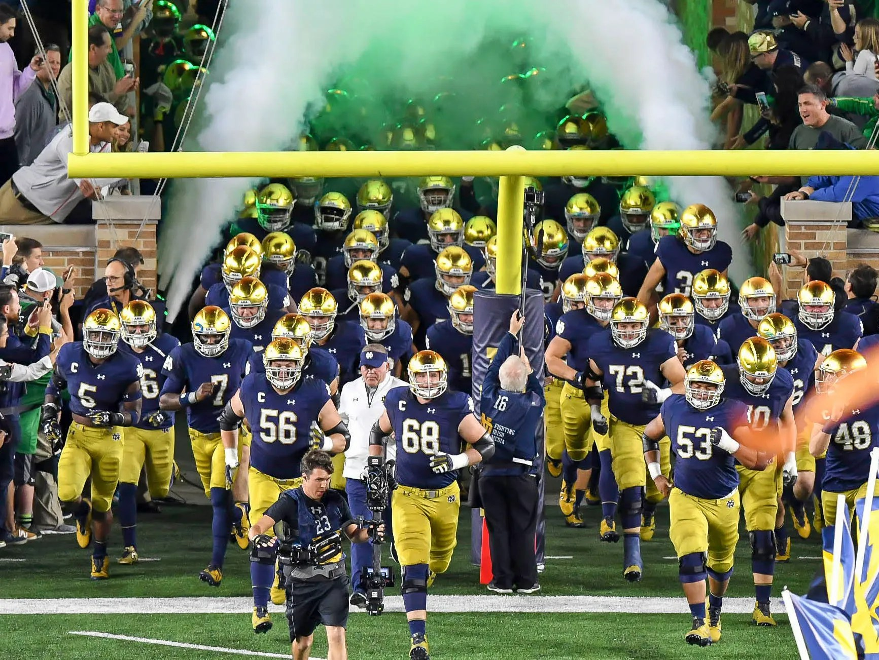 Notre Dame Scheduled For Three Home Night Games In 2018