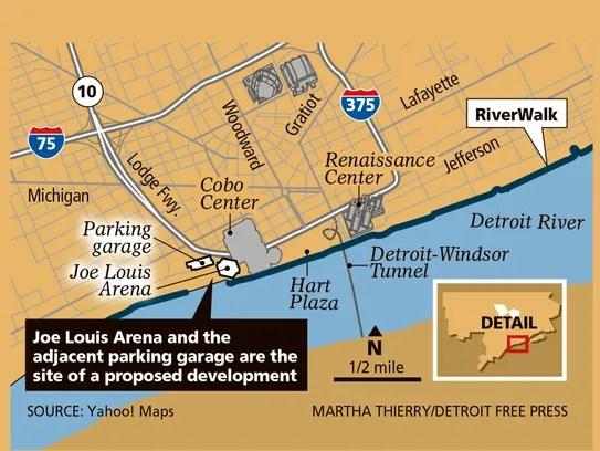 Joe Louis Arena Suite Map
