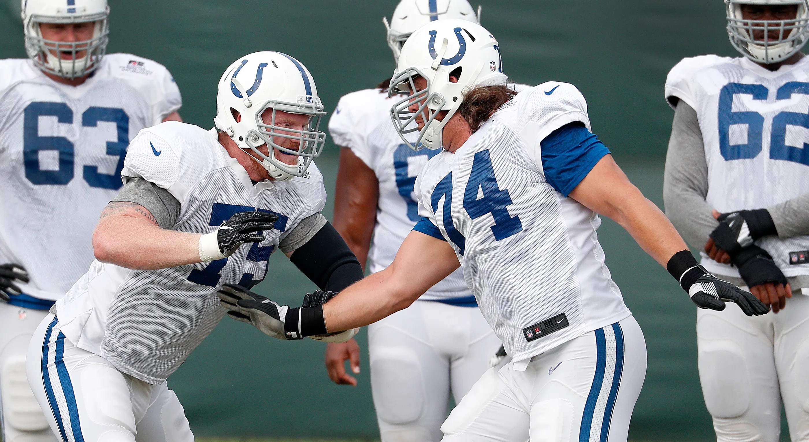 Indianapolis colts offensive guard jack mewhort also breaking down the depth chart rh indystar