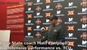 Matt Campbell discusses his defense's performance against TCU