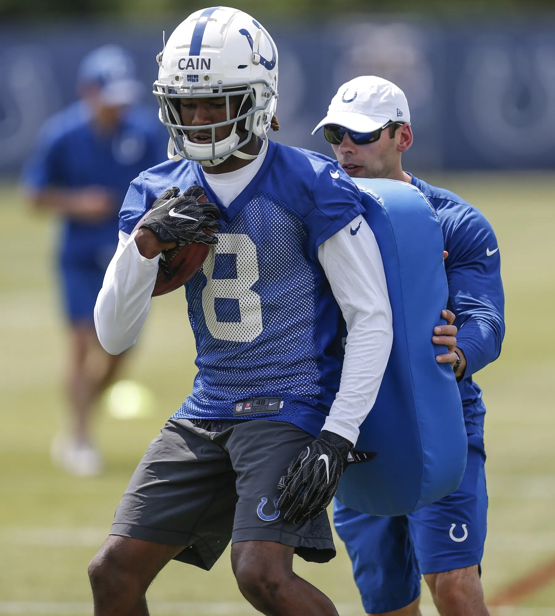 also indianapolis colts rookies skai moore deon cain impressing in otas rh indystar