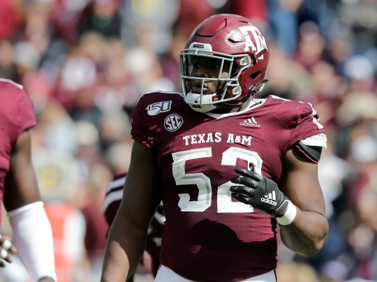 Justin Madubuike of Texas A&M.