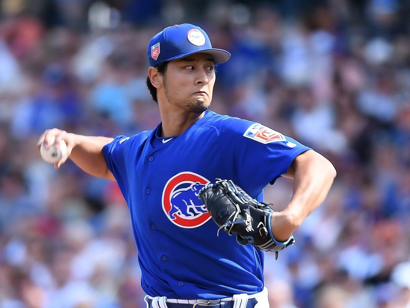 Yu Darvish struck out four batters over two innings