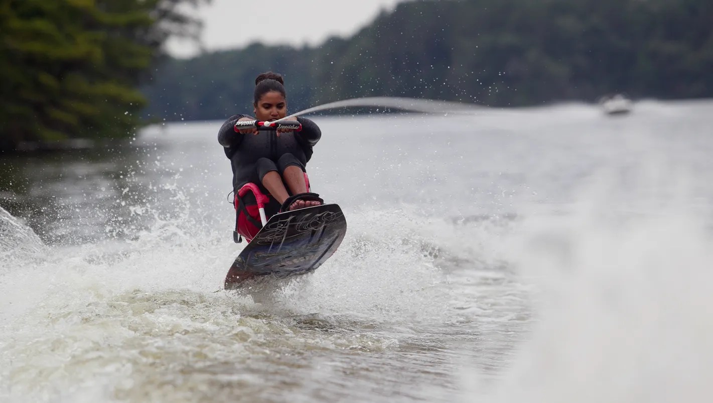 wheelchair skiing childrens rocking chair cushions from to wakeboard adaptive sports open doors