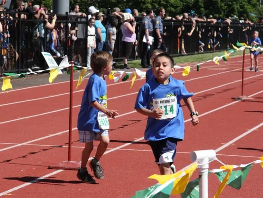 Xavi Ceja finishes the run for first grade boys at
