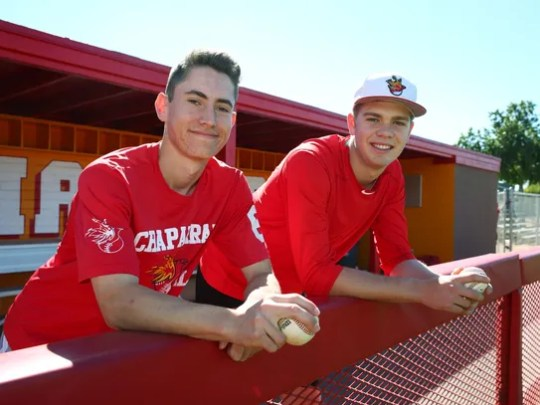 Chaparral High pitchers Casey Candiotti and Ben Kirke