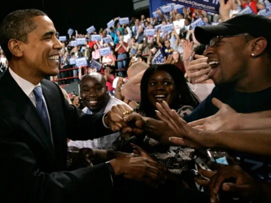 Then-Sen. Barack Obama, D-Ill., campaigns in Raleigh,