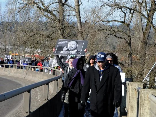 Hundreds participate in a Martin Luther King Jr. Day