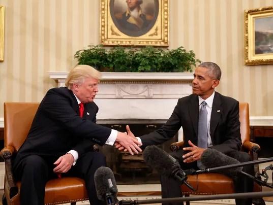 AP APTOPIX OBAMA TRUMP A ELN USA DC