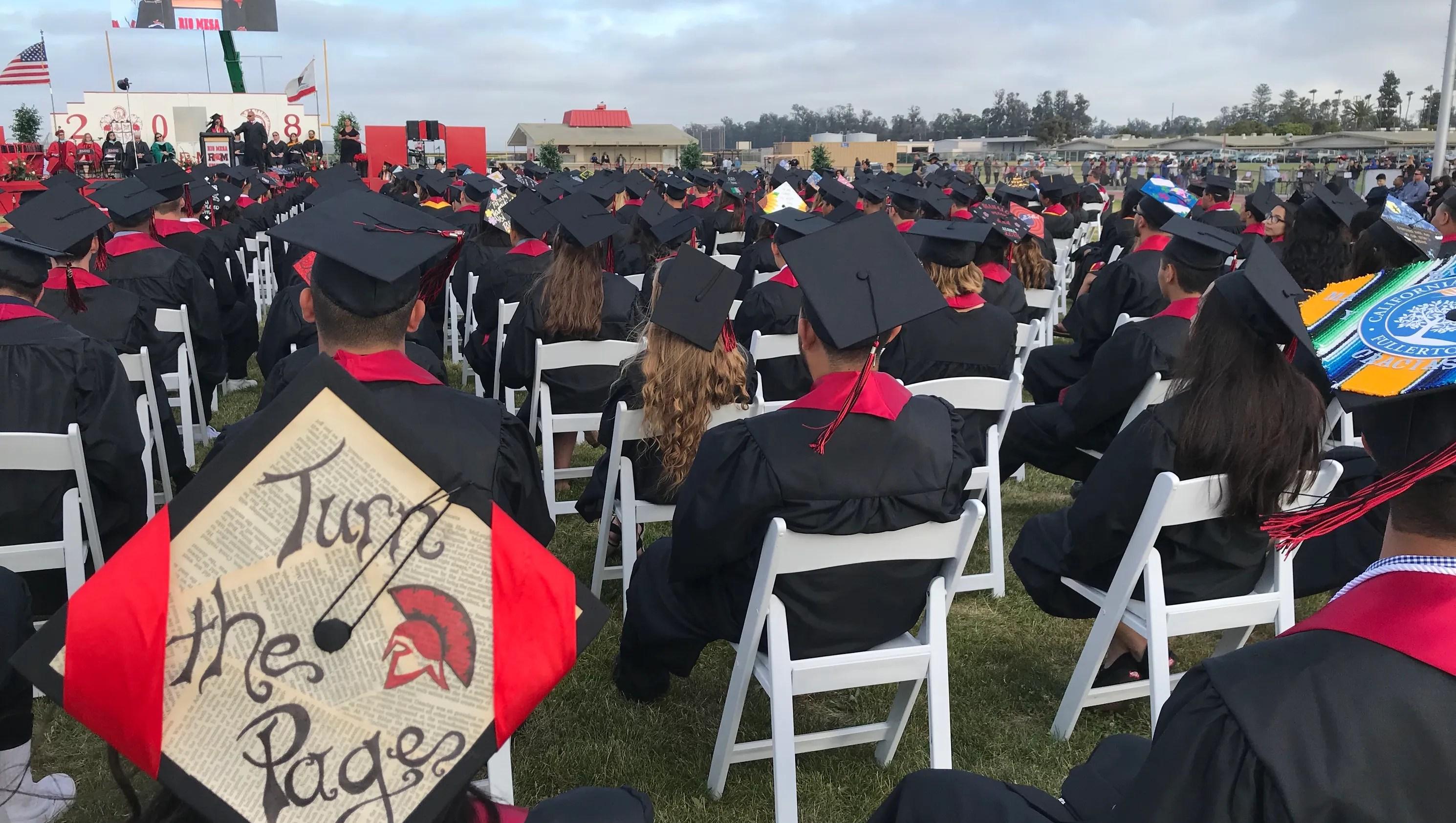 Rio Mesa High School seniors embrace graduation