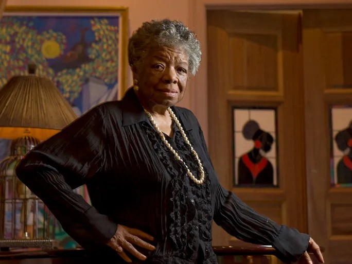 Author  and  poet Maya Angelou is photographed at home on April 4, 2008, in New York. She died May 28 at the age of 86.