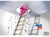 Cartoonist Gary Varvel: Hillary breaks the glass ceiling
