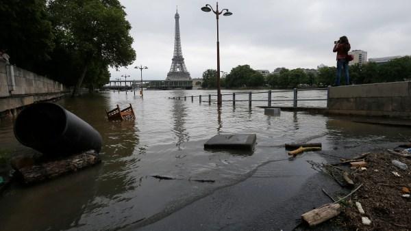 Paris France River Flooding
