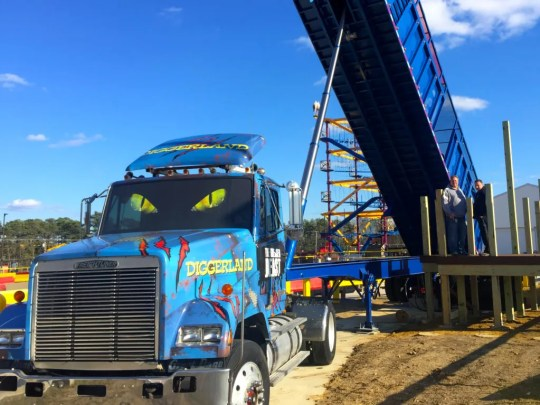 Have a load of fun on the Greased Beast at Diggerland