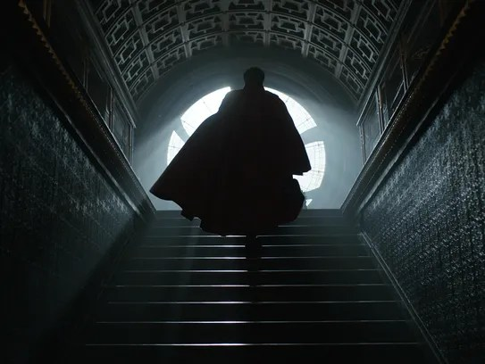 Stephen Strange (Benedict Cumberbatch) brings magic