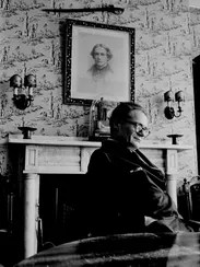 Poet Robert Lowell photographed for 'Life' magazine