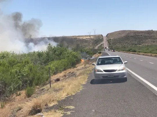 A fire broke out near Cordes Junction on the northbound