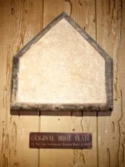 The original home plate from the original Scottsdale