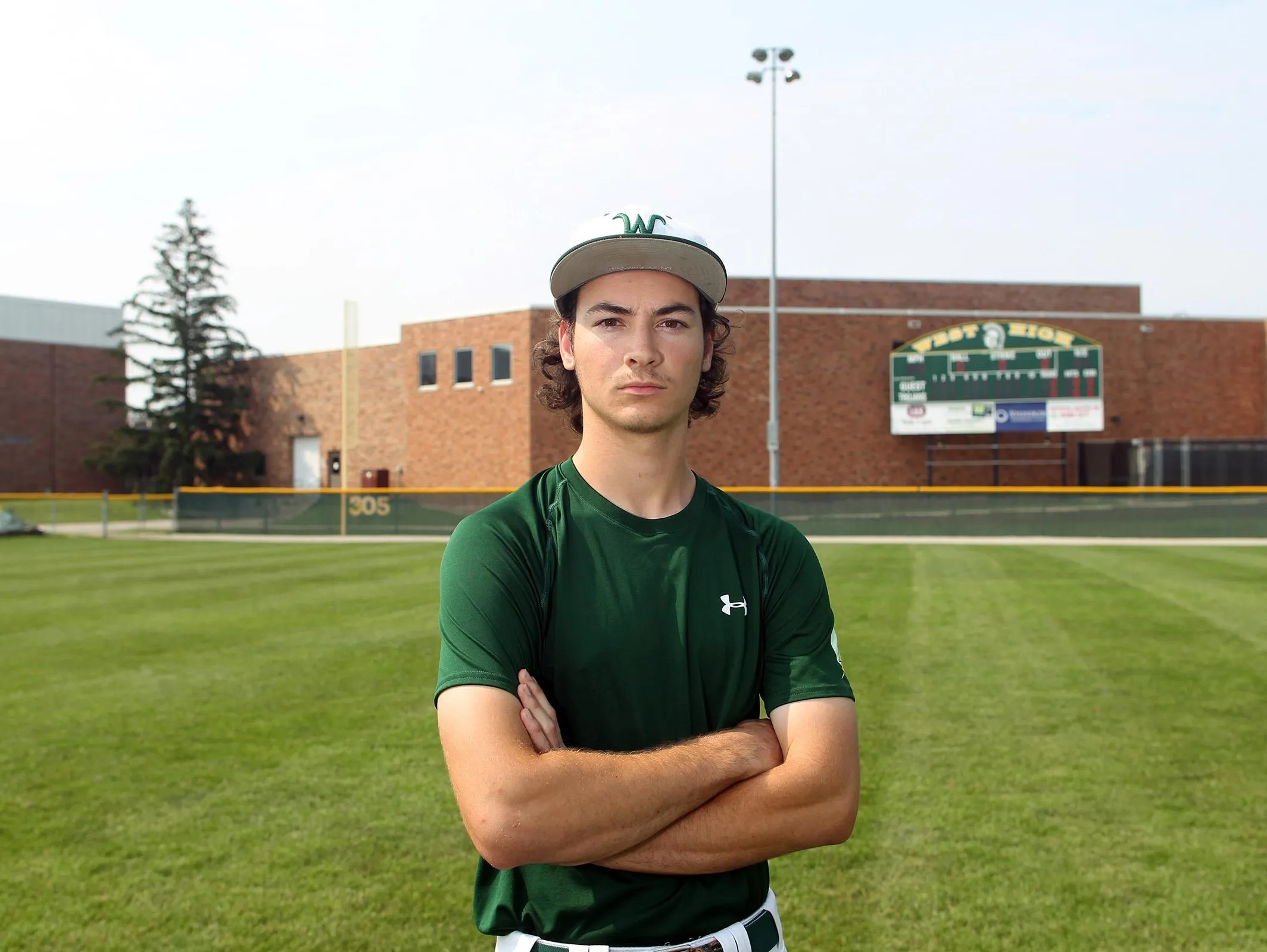 Where is West High's Kevin DeLaney? Probably on base   USA ...