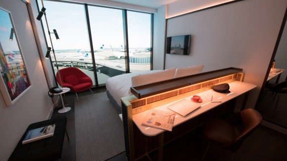 The TWA Hotel's rooms will feature floor-to-ceiling