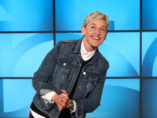 Comedian and talk show host Ellen DeGeneres is rooting