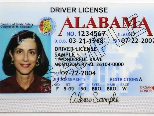 Temporary License Alabama