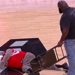 Steel Chair In Wwe Futon Bed Single Mark Henry Smashes Rockets Mascot With